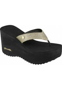 Tamanco Barth Shoes Sorvete Glitter Tratorado - Feminino-Preto+Dourado