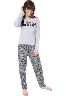 Pijama Pzama Love Cinza