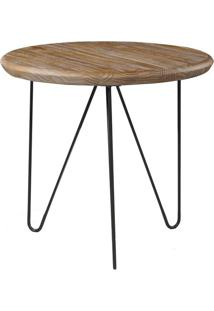 Mesa Lateral Tampa Driftwood Com Base Grafite 60 Cm (Larg) - 46298 Sun House