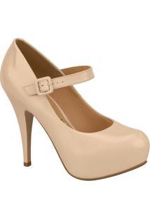 Sapato Meia Pata Com Fivela- Nude- Salto: 11,5Cmvizzano