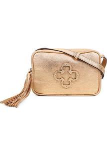 Bolsa Couro Capodarte Mini Bag Snake - Feminino-Ouro