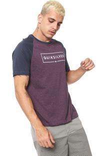 Camiseta Quiksilver Dc Pack Raglan Roxa/Azul