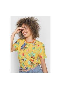 Blusa Colcci Tropical Amarela