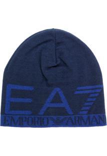 ... Ea7 Emporio Armani Gorro Com Logo - Azul 03a96cb5cbc