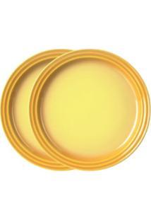 Prato Sobremesa 15 Cm 2 Peças Amarelo Soleil Le Creuset