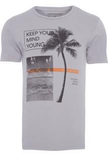 Camiseta Masculina Keep Your Mind - Cinza