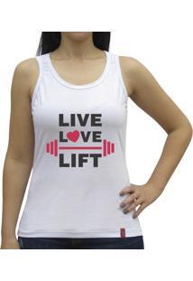 Regata Nadador Casual Sport Live Love Lift Branca