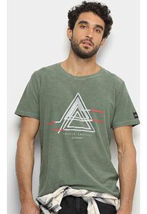 Camiseta Sommer Estampada Masculina - Masculino-Verde