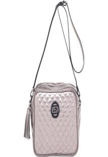Bolsa Transversal Smart Bag 78061 - Inox Prata - Kanui