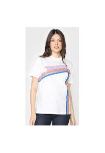 Camiseta Tommy Jeans Logo Color Branca