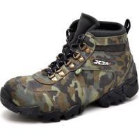 bdf0be2e40 Bota Coturno Adventure Top Franca Shoes Camuflado - Masculino