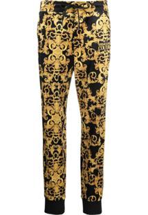 Versace Jeans Couture Calça Esportiva Com Estampa Barroca - Preto