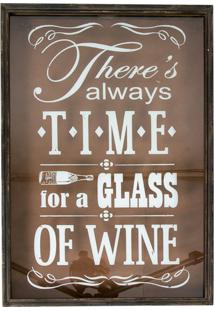 Quadro Decorativo Porta-Rolhas Glass Of Wine