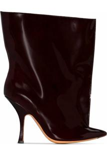 Y/Project Ankle Boot De Couro - Vermelho