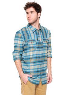 Camisa Oakley Logistic Woven Azul/Amarelo