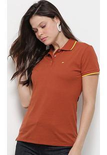 Camisa Polo Ellus Asa Manga Curta Feminina - Feminino