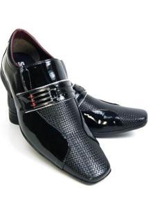 Sapato Social Couro Schiareli Masculino - Masculino-Preto