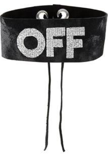 Manokhi Choker 'Off' - Preto