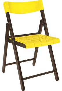 Cadeira Dobrável Tramontina Potenza 13793084 Tabaco E Amarela
