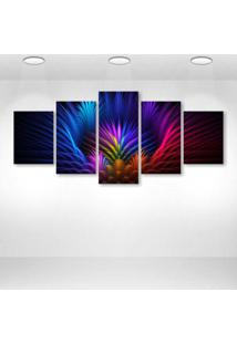 Quadro Decorativo - Colors Colorful Background - Composto De 5 Quadros