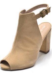 Sandália Boot Flor Da Pele Nude