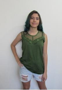 Blusa Bon Guipir Verde - Tricae