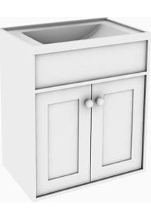 Gabinete De Banheiro Com Cuba Agardi 31,5X66,5Cm Branco Darabas