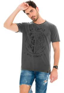 Camiseta Lavish Be Lavish With Yourself Urso Geométrico Estone Cinza