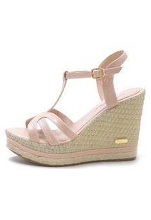 Sandália Sb Shoes Anabela Ref.3230 Nude