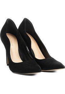 Scarpin Couro Shoestock Salto Alto Ondas - Feminino