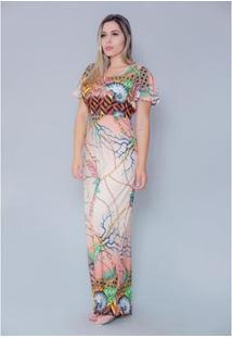 Vestido Imagivan Longo Estampado Feminino - Feminino