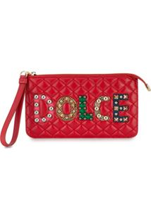 Dolce & Gabbana Carteira Em Couro Matelassê - Vermelho
