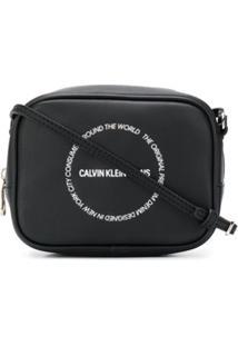 Calvin Klein Jeans Bolsa Transversal Com Estampa De Logo - Preto