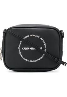 Calvin Klein Jeans Logo-Print Crossbody Bag - Preto