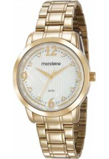 c2b5538316e Zattini. Relógio Vidro Manual Feminino Seculus Mondaine Dourado ...