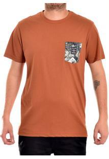 9addf37f02 Camiseta Marrom Skate masculina