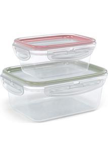 Kit Pote 2 Peças Trava Mais Color - Plasútil - Transparente
