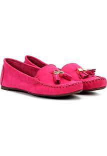 8ab7f66b4 ... Mocassim Couro Santa Lolla Barbicachos Feminino - Feminino-Pink