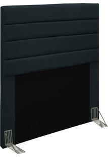 Cabeceira Para Cama Box Solteiro 90Cm Rubi D10 Suede Preto - Mpozenato - Unico - Dafiti