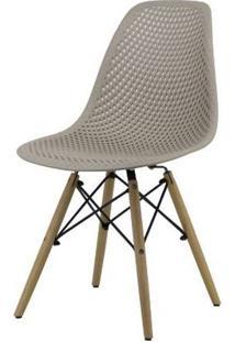 Cadeira Lópes Nude Base Natural 82Cm - 62940 - Sun House