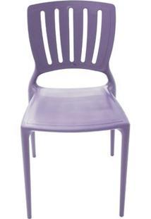 Cadeira Plástica Monobloco Sofia Lilas Encosto Vazado Vertical Tramontina 92035/080