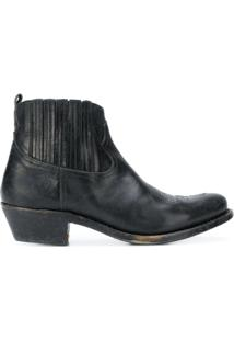 Golden Goose Bota Slip-On De Couro - Preto