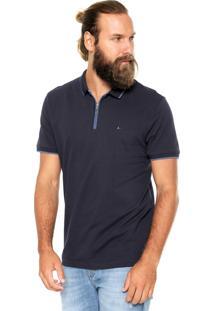 Camisa Polo Aramis Zíper Azul