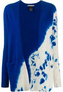 Suzusan Cardigan De Cashmere Sem Costura - Azul