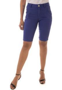 Bermuda Jeans Osmoze Mid Rise Middle Plus Safira Feminina - Feminino