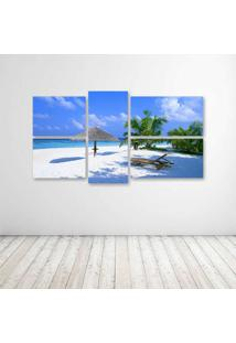 Quadro Decorativo - Beach Rest Place - Composto De 5 Quadros