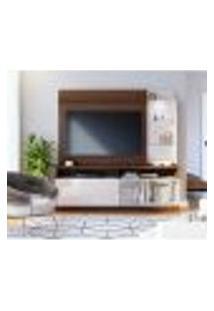 Estante Para Home Theater E Tv Até 60 Polegadas Leblon Nogueira E Off White