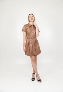 Vestido Golden Dress Material Sintético Feminina - Feminino