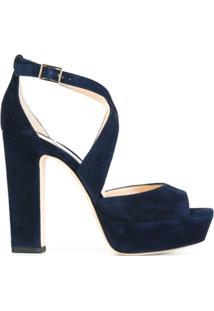 Jimmy Choo Sandália Modelo 'April 120' - Azul