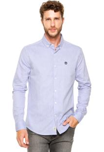 Camisa Timberland Slim Rattle River Oxford Azul